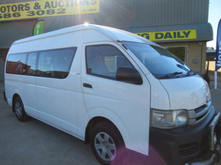 2008 Toyota HiAce KDH223R Commuter White 4 Speed Automatic Bus.