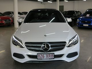 2017 Mercedes-Benz C-Class W205 808MY C300 9G-Tronic White 9 Speed Sports Automatic Sedan