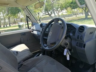 2012 Toyota Landcruiser VDJ79R MY12 Update Workmate (4x4) White 5 Speed Manual Cab Chassis