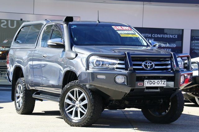 Used Toyota Hilux GUN126R SR5 Double Cab, 2015 Toyota Hilux GUN126R SR5 Double Cab Grey 6 Speed Sports Automatic Utility