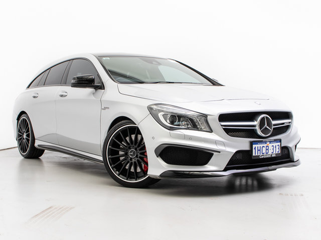 Used Mercedes-Benz CLA45 AMG 4Matic Shooting Brake 117 , 2015 Mercedes-Benz CLA45 AMG 4Matic Shooting Brake 117 Silver 7 Speed Auto Dual Clutch Wagon