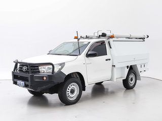 2017 Toyota Hilux GUN125R Workmate (4x4) White 6 Speed Automatic Cab Chassis.