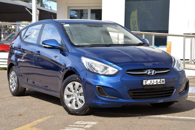 Used Hyundai Accent RB4 MY17 Active, 2017 Hyundai Accent RB4 MY17 Active Blue 6 Speed Manual Hatchback