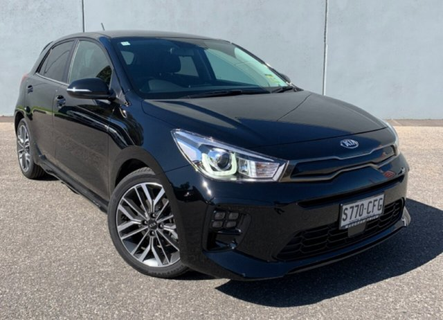 Demo Kia Rio YB MY21 GT-Line DCT Cheltenham, 2020 Kia Rio YB MY21 GT-Line DCT Aurora Black 7 Speed Sports Automatic Dual Clutch Hatchback