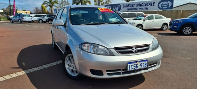 Used Holden Viva JF MY08 East Bunbury, 2008 Holden Viva JF MY08 Silver 4 Speed Automatic Hatchback