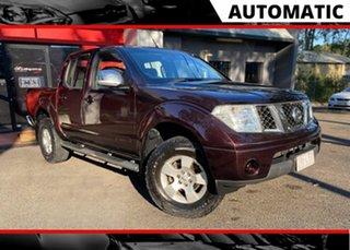2008 Nissan Navara D40 ST-X Maroon 6 Speed Manual Utility.