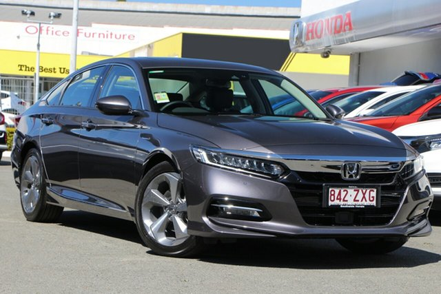 Demo Honda Accord 10th Gen MY21 VTi-LX E-CVT Mount Gravatt, 2020 Honda Accord 10th Gen MY21 VTi-LX E-CVT Modern Steel 1 Speed Constant Variable Sedan Hybrid