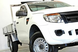 2015 Ford Ranger PX XL 2.2 Hi-Rider (4x2) White 6 Speed Automatic Cab Chassis.