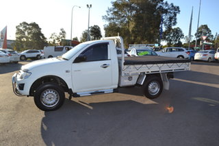 2014 Mitsubishi Triton MN MY15 GLX 4x2 White 4 Speed Sports Automatic Cab Chassis