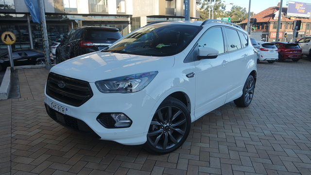 Used Ford Escape ZG 2019.75MY ST-Line, 2019 Ford Escape ZG 2019.75MY ST-Line Frozen White 6 Speed Sports Automatic SUV