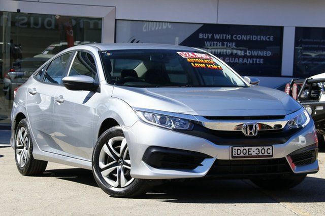 Used Honda Civic 10th Gen MY18 VTi, 2018 Honda Civic 10th Gen MY18 VTi Grey 1 Speed Constant Variable Sedan
