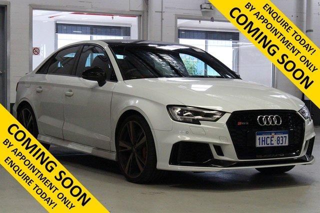 Used Audi RS 3 8V MY18 Quattro, 2018 Audi RS 3 8V MY18 Quattro White 7 Speed Auto Dual Clutch Sedan