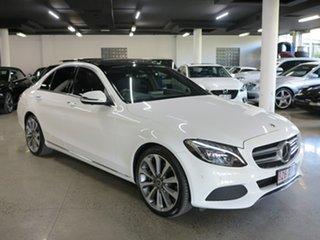 2017 Mercedes-Benz C-Class W205 808MY C300 9G-Tronic White 9 Speed Sports Automatic Sedan.