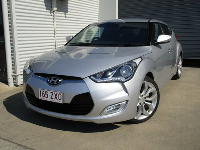 Used Hyundai Veloster FS Coupe D-CT, 2012 Hyundai Veloster FS Coupe D-CT Silver 6 Speed Sports Automatic Dual Clutch Hatchback
