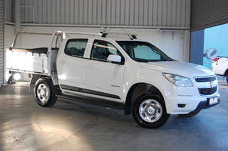 2016 Holden Colorado RG MY16 LS Crew Cab 4x2 White 6 Speed Sports Automatic Cab Chassis.