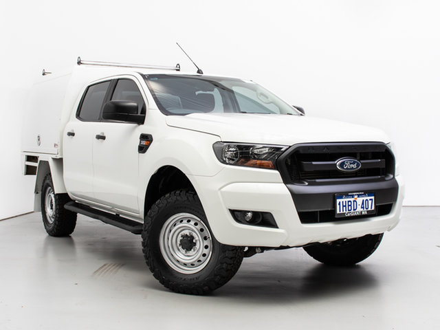 Used Ford Ranger PX MkII XL 3.2 (4x4), 2016 Ford Ranger PX MkII XL 3.2 (4x4) White 6 Speed Automatic Crew Cab Chassis