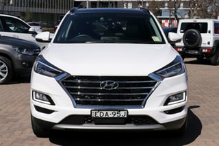 2019 Hyundai Tucson TL3 MY19 Highlander CRDi (AWD) Pure White 8 Speed Automatic Wagon