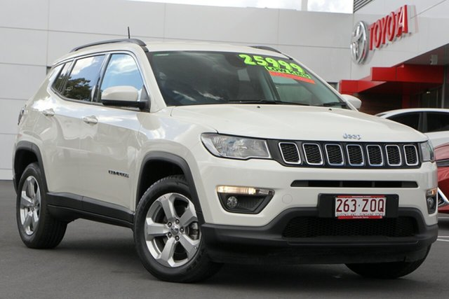 Used Jeep Compass M6 MY18 Longitude FWD, 2018 Jeep Compass M6 MY18 Longitude FWD Bright White 6 Speed Automatic Wagon