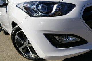 2015 Hyundai i30 GD4 Series 2 Active X 1.6 CRDi Polar White 7 Speed Auto Dual Clutch Hatchback.