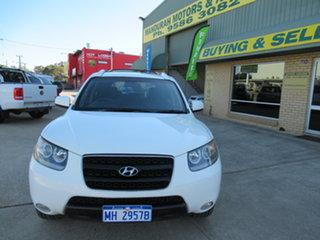 2007 Hyundai Santa Fe CM SLX White 4 Speed Automatic Wagon.