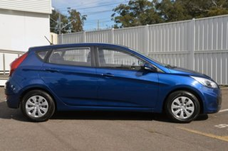 2017 Hyundai Accent RB4 MY17 Active Blue 6 Speed Manual Hatchback.