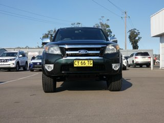 2010 Ford Ranger PK XLT Crew Cab Green 5 Speed Manual Double Cab Pick Up.