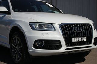 2016 Audi Q5 8R MY16 TDI S Tronic Quattro White 7 Speed Sports Automatic Dual Clutch Wagon.