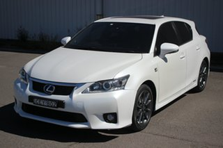 2012 Lexus CT ZWA10R CT200h F Sport White 1 Speed Constant Variable Hatchback Hybrid.