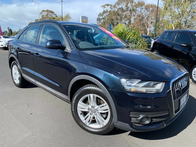 Used Audi Q3 8U MY13 TDI S Tronic Quattro, 2013 Audi Q3 8U MY13 TDI S Tronic Quattro Dark Blue 7 Speed Sports Automatic Dual Clutch Wagon