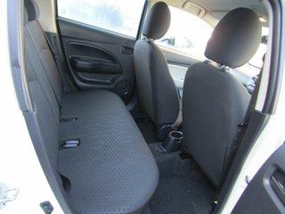 2012 Mitsubishi Mirage LA MY14 ES White 5 Speed Manual Hatchback