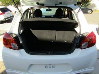 2012 Mitsubishi Mirage LA MY14 ES White 5 Speed Manual Hatchback.