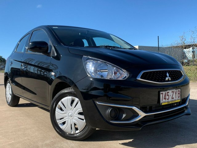 Used Mitsubishi Mirage LA MY20 ES, 2019 Mitsubishi Mirage LA MY20 ES Black 1 Speed Constant Variable Hatchback