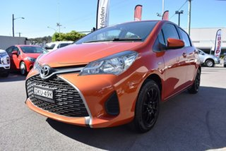 2016 Toyota Yaris NCP130R Ascent Orange 4 Speed Automatic Hatchback.
