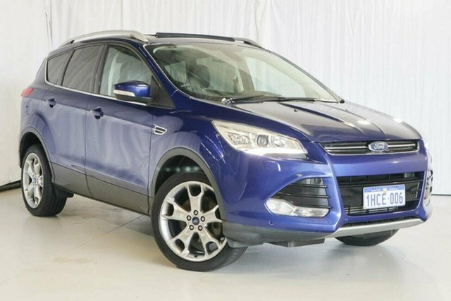 Used Ford Kuga TF MY15 Titanium, 2015 Ford Kuga TF MY15 Titanium Blue 6 Speed Sports Automatic Wagon