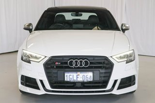 2017 Audi S3 8V MY18 S Tronic Quattro White 7 Speed Sports Automatic Dual Clutch Sedan