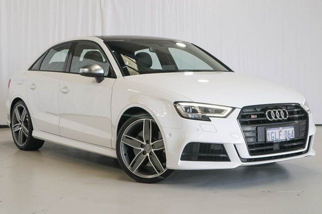 Used Audi S3 8V MY18 S Tronic Quattro, 2017 Audi S3 8V MY18 S Tronic Quattro White 7 Speed Sports Automatic Dual Clutch Sedan