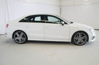 2017 Audi S3 8V MY18 S Tronic Quattro White 7 Speed Sports Automatic Dual Clutch Sedan.