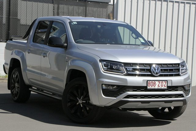 Demo Volkswagen Amarok 2H MY20 TDI580 4MOTION Perm Highline Black, 2019 Volkswagen Amarok 2H MY20 TDI580 4MOTION Perm Highline Black Reflex Silver 8 Speed Automatic
