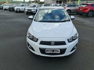 2013 Holden Barina TM MY13 CDX White 6 Speed Automatic Hatchback.