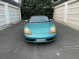 1997 Porsche Boxster 986 Green 5 Speed Sports Automatic Convertible.