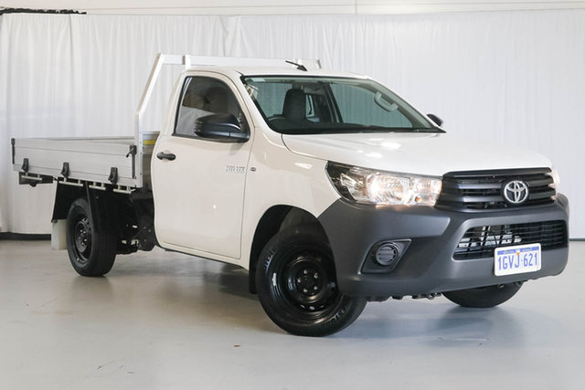 Used Toyota Hilux TGN121R Workmate 4x2, 2019 Toyota Hilux TGN121R Workmate 4x2 White 5 Speed Manual Cab Chassis