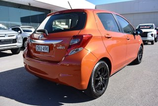 2016 Toyota Yaris NCP130R Ascent Orange 4 Speed Automatic Hatchback