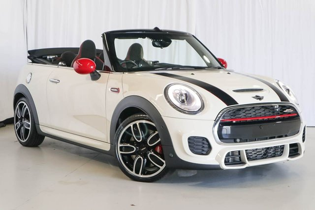 Used Mini Convertible F57 John Cooper Works, 2017 Mini Convertible F57 John Cooper Works White 6 Speed Sports Automatic Convertible