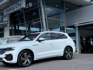 2020 Volkswagen Touareg CR MY20 190TDI Tiptronic 4MOTION Premium White 8 Speed Sports Automatic.