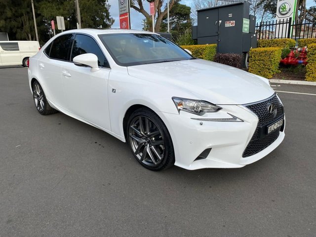 Used Lexus IS GSE31R IS350 F Sport, 2016 Lexus IS GSE31R IS350 F Sport White 8 Speed Sports Automatic Sedan