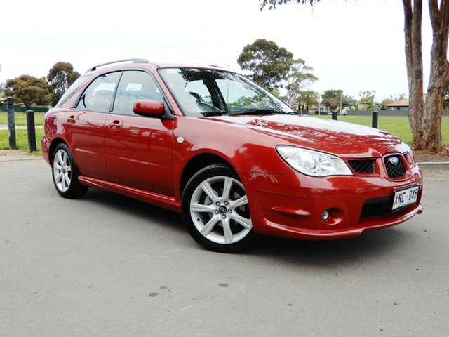 Used Subaru Impreza S MY07 AWD, 2007 Subaru Impreza S MY07 AWD Burgundy 5 Speed Manual Hatchback
