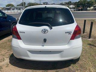 2009 Toyota Yaris NCP90R 08 Upgrade YR White 5 Speed Manual Hatchback