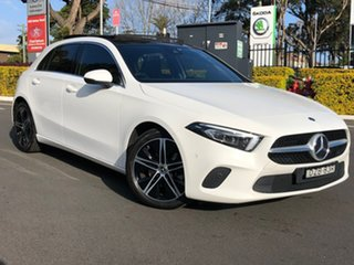 2018 Mercedes-Benz A-Class W177 A200 DCT White 7 Speed Sports Automatic Dual Clutch Hatchback.