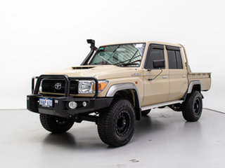 2018 Toyota Landcruiser VDJ79R GXL (4x4) Beige 5 Speed Manual Double Cab Chassis.
