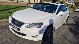 2010 Lexus IS GSE20R MY11 IS250 F Sport Pearl White 6 Speed Sports Automatic Sedan